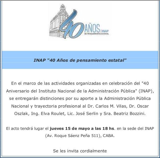 INAP: 40 años de pensamiento estatal