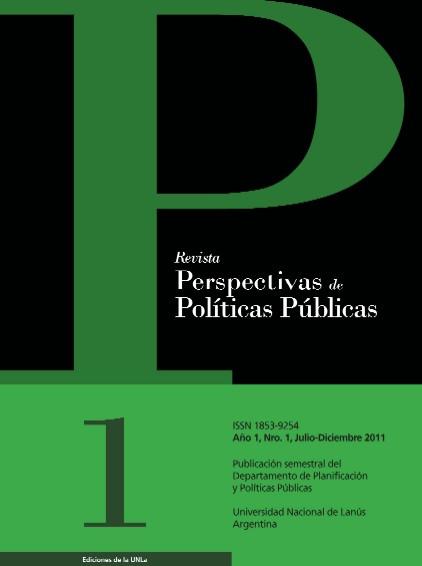 Nº1 Revista Perspectivas de Políticas Públicas
