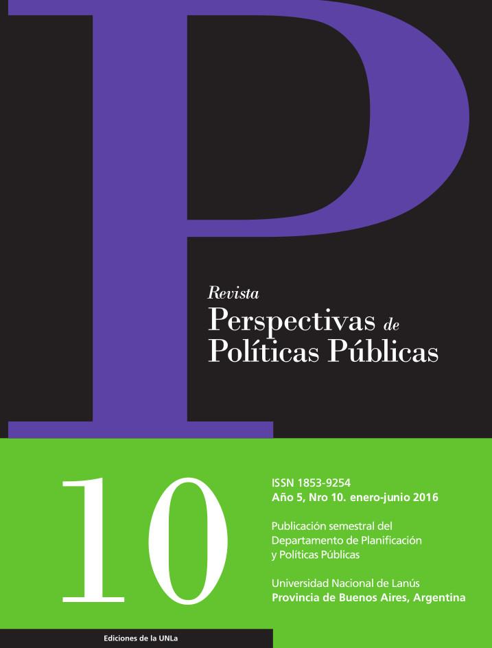 N°10 Revista Perspectivas de Políticas Públicas