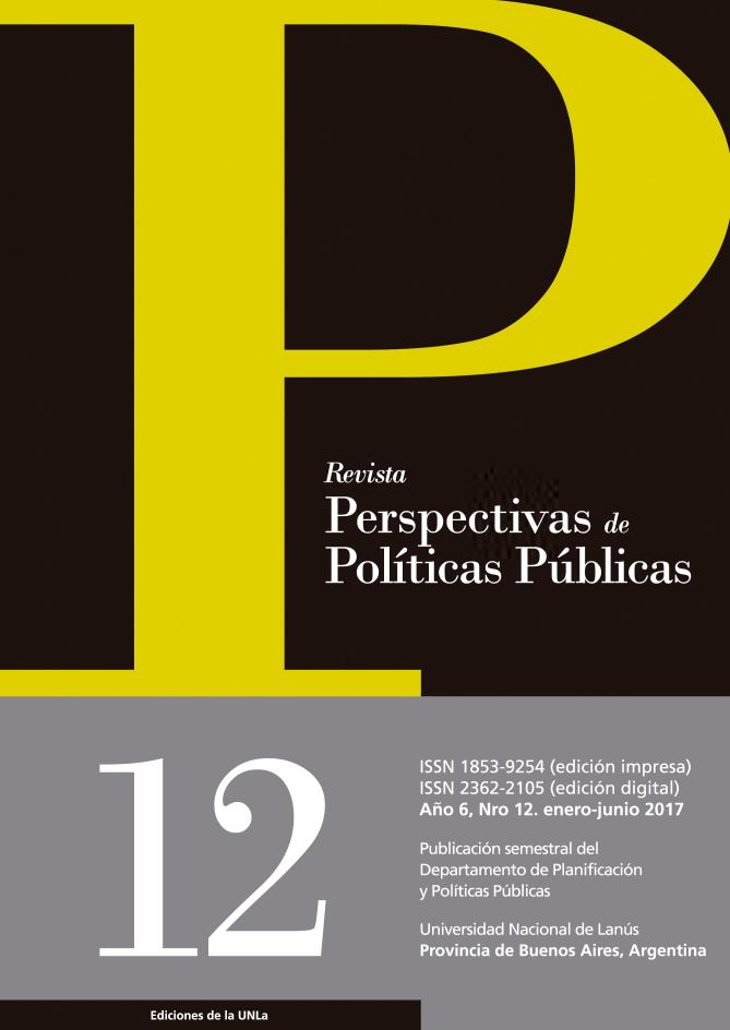 N°12 Revista Perspectivas de Políticas Públicas