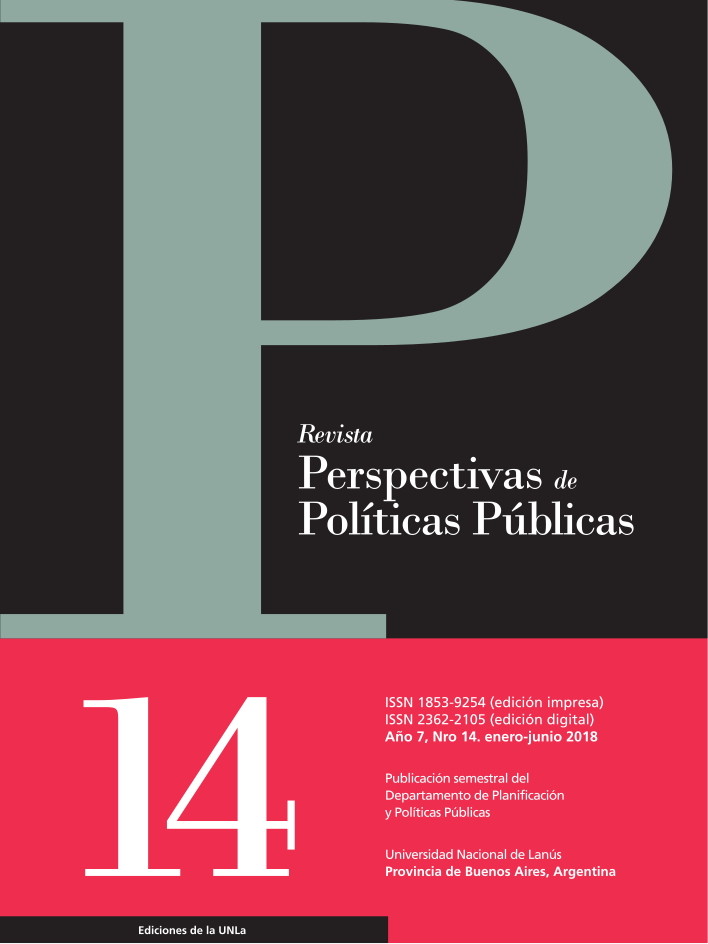 N°14 Revista Perspectivas de Políticas Públicas