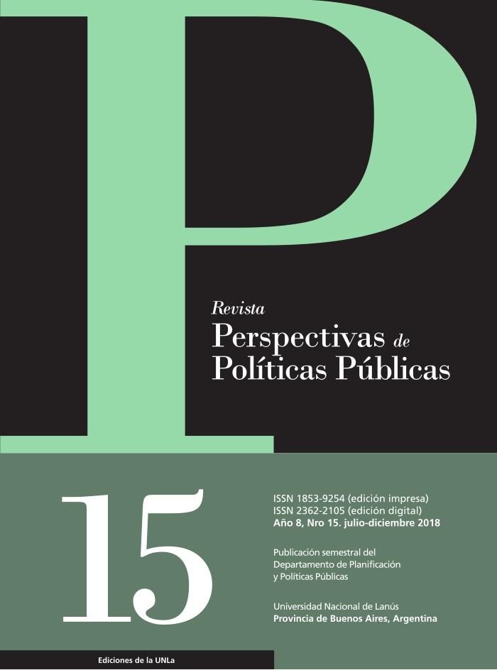 N°15 Revista Perspectivas de Políticas Públicas