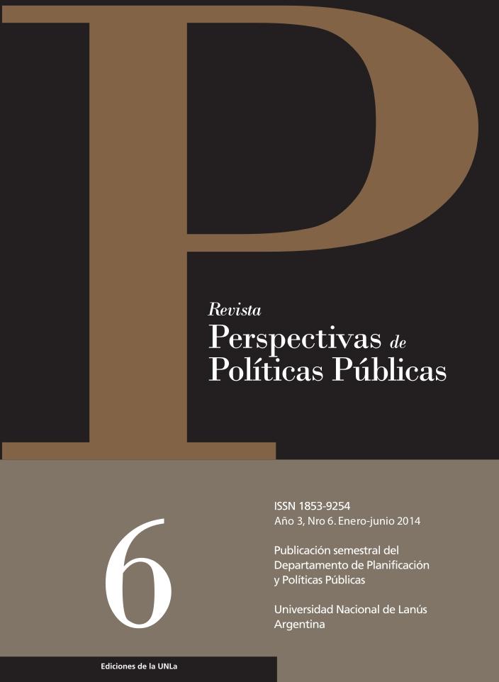 N°6 Revista Perspectivas de Políticas Públicas